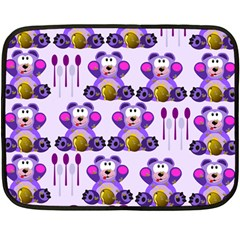Fms Honey Bear With Spoons Mini Fleece Blanket (two Sided)