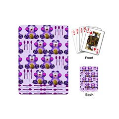 Fms Honey Bear With Spoons Playing Cards (mini)