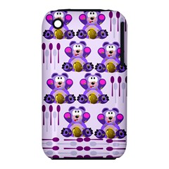 Fms Honey Bear With Spoons Apple iPhone 3G/3GS Hardshell Case (PC+Silicone)