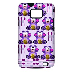 Fms Honey Bear With Spoons Samsung Galaxy S II i9100 Hardshell Case (PC+Silicone)