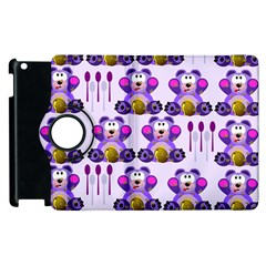 Fms Honey Bear With Spoons Apple iPad 3/4 Flip 360 Case