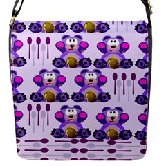 Fms Honey Bear With Spoons Flap Closure Messenger Bag (Small)