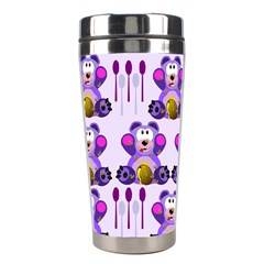 Fms Honey Bear With Spoons Stainless Steel Travel Tumbler