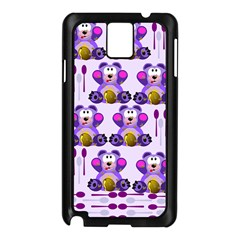 Fms Honey Bear With Spoons Samsung Galaxy Note 3 N9005 Case (Black)