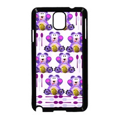 Fms Honey Bear With Spoons Samsung Galaxy Note 3 Neo Hardshell Case (black)