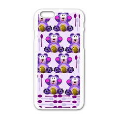 Fms Honey Bear With Spoons Apple iPhone 6 White Enamel Case
