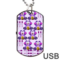 FMS Honey Bear with Spoons Dog Tag USB Flash (Two Sides)