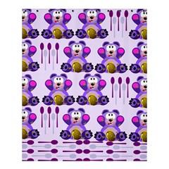 FMS Honey Bear with Spoons Shower Curtain 60  x 72  (Medium)