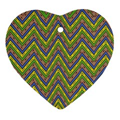 Zig Zag Pattern Ornament (heart)