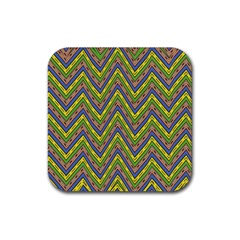 Zig Zag Pattern Rubber Square Coaster (4 Pack)