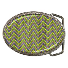 Zig zag pattern Belt Buckle