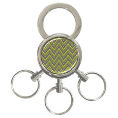 Zig Zag Pattern 3 Ring Key Chain