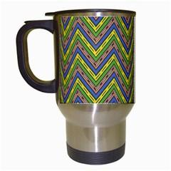 Zig Zag Pattern Travel Mug (white)
