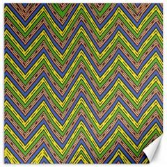 Zig zag pattern Canvas 16  x 16