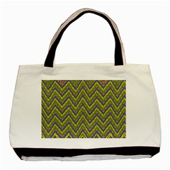 Zig Zag Pattern Classic Tote Bag (two Sides)