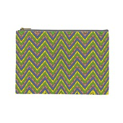 Zig Zag Pattern Cosmetic Bag (large)