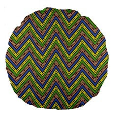 Zig Zag Pattern 18  Premium Round Cushion