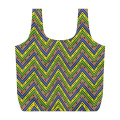 Zig zag pattern Full Print Recycle Bag (L)
