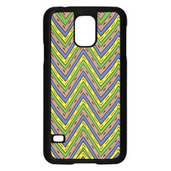 Zig zag pattern Samsung Galaxy S5 Case (Black)