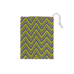 Zig zag pattern Drawstring Pouch (Small)