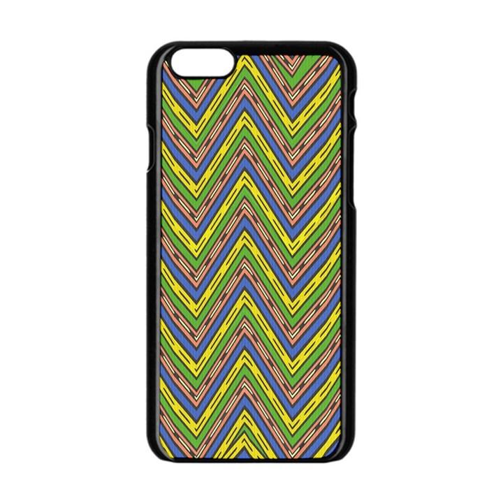 Zig zag pattern Apple iPhone 6 Black Enamel Case