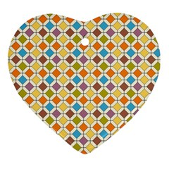 Colorful Rhombus Pattern Ornament (heart)