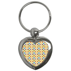 Colorful Rhombus Pattern Key Chain (heart)