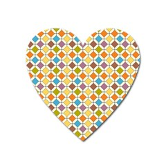 Colorful Rhombus Pattern Magnet (heart)