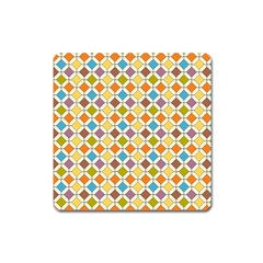 Colorful Rhombus Pattern Magnet (square)
