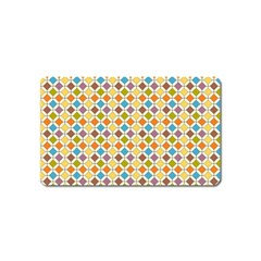 Colorful rhombus pattern Magnet (Name Card)