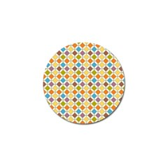Colorful Rhombus Pattern Golf Ball Marker (4 Pack)