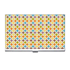 Colorful rhombus pattern Business Card Holder