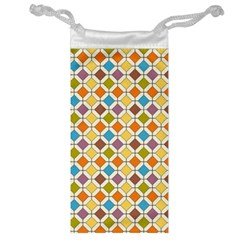 Colorful rhombus pattern Jewelry Bag
