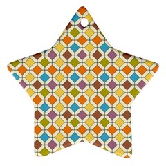 Colorful rhombus pattern Star Ornament (Two Sides)