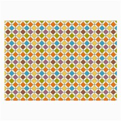Colorful Rhombus Pattern Glasses Cloth (large, Two Sides)