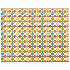 Colorful rhombus pattern Canvas 11  x 14