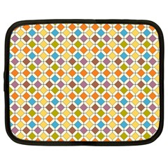 Colorful Rhombus Pattern Netbook Case (large)