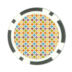 Colorful Rhombus Pattern Poker Chip Card Guard (10 Pack)