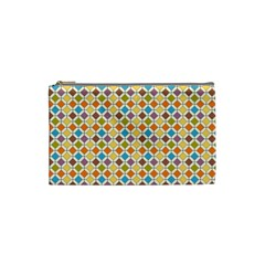 Colorful Rhombus Pattern Cosmetic Bag (small)