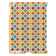 Colorful Rhombus Pattern Apple Ipad 3/4 Hardshell Case (compatible With Smart Cover)