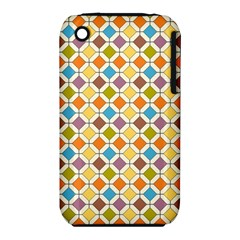 Colorful rhombus pattern Apple iPhone 3G/3GS Hardshell Case (PC+Silicone)