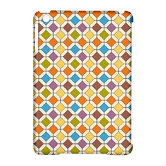 Colorful rhombus pattern Apple iPad Mini Hardshell Case (Compatible with Smart Cover)