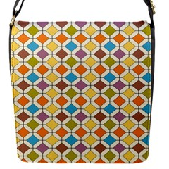 Colorful Rhombus Pattern Removable Flap Cover (small)