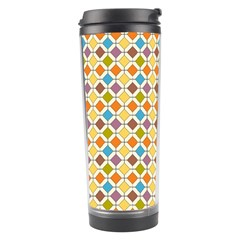 Colorful Rhombus Pattern Travel Tumbler