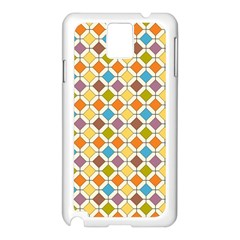 Colorful rhombus pattern Samsung Galaxy Note 3 N9005 Case (White)