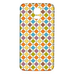 Colorful Rhombus Pattern Samsung Galaxy S5 Back Case (white)