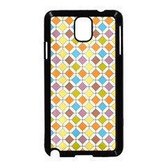 Colorful rhombus pattern Samsung Galaxy Note 3 Neo Hardshell Case (Black)