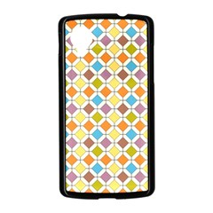 Colorful rhombus pattern Google Nexus 5 Case (Black)