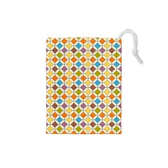 Colorful rhombus pattern Drawstring Pouch (Small)