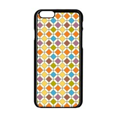 Colorful rhombus pattern Apple iPhone 6 Black Enamel Case